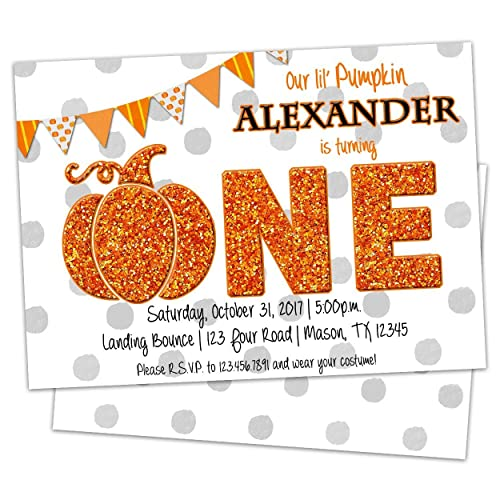 Amazon little pumpkin first birthday invitations fall party little pumpkin first birthday invitations fall party filmwisefo