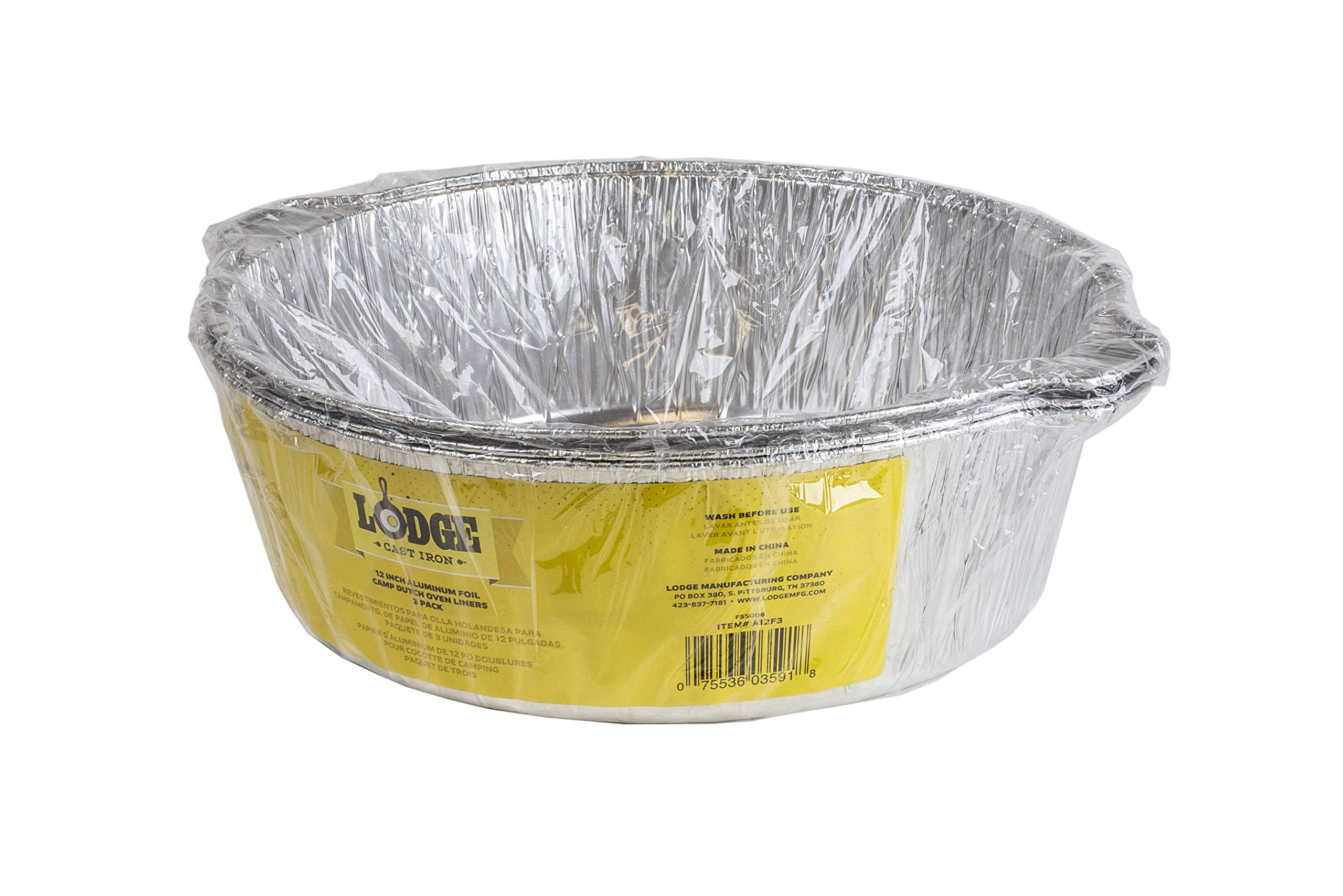 Lodge A12F3 12-Inch Aluminum Foil Dutch Oven Liners 3-Pack Silver by Lodge (Image #3)