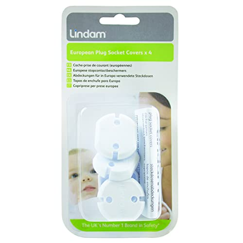 Lindam European Plug Socket Cover (Pack of 4)