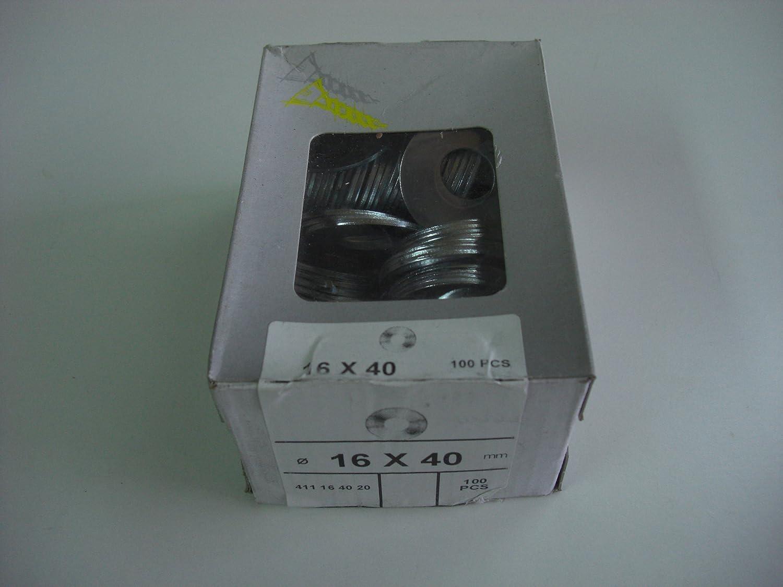 Art.Nr 411164020 Karrosseriescheiben 100 St/ück verzinkte Unterlegscheiben 16x40mm