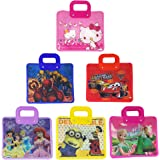 Parteet Cartoon Printed Handle Bags - Pack Of 6 Pcs For Kids