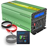 EDECOA 1500W Peak 3000W Pure Sine Wave Power Inverter DC 12V to 110V AC with LCD Display and Remote Controller with 4.2A Dual USB Ports