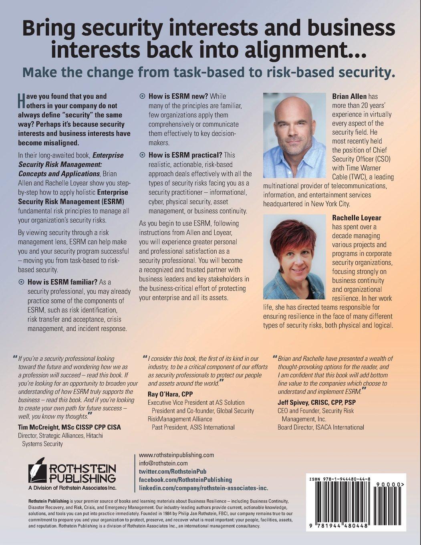 Enterprise Security Risk Management: Concepts and