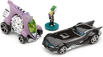 Hot Wheels Mattel - Miniatura de Coches Pack de 2 Batman Super Hero - Dos Coches y la Figura de Joker: Amazon.es: Juguetes y juegos