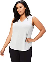 1935ab9eef3ed Daily Ritual Women s Plus Size Jersey V-Neck Tank Top