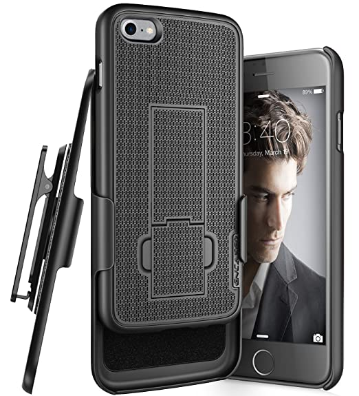 detailed look d760b 1bd47 iPhone 7 Belt Clip Case, Encased (Ultra Thin) Secure-fit Cover w/ClikLock  Holster (Black)
