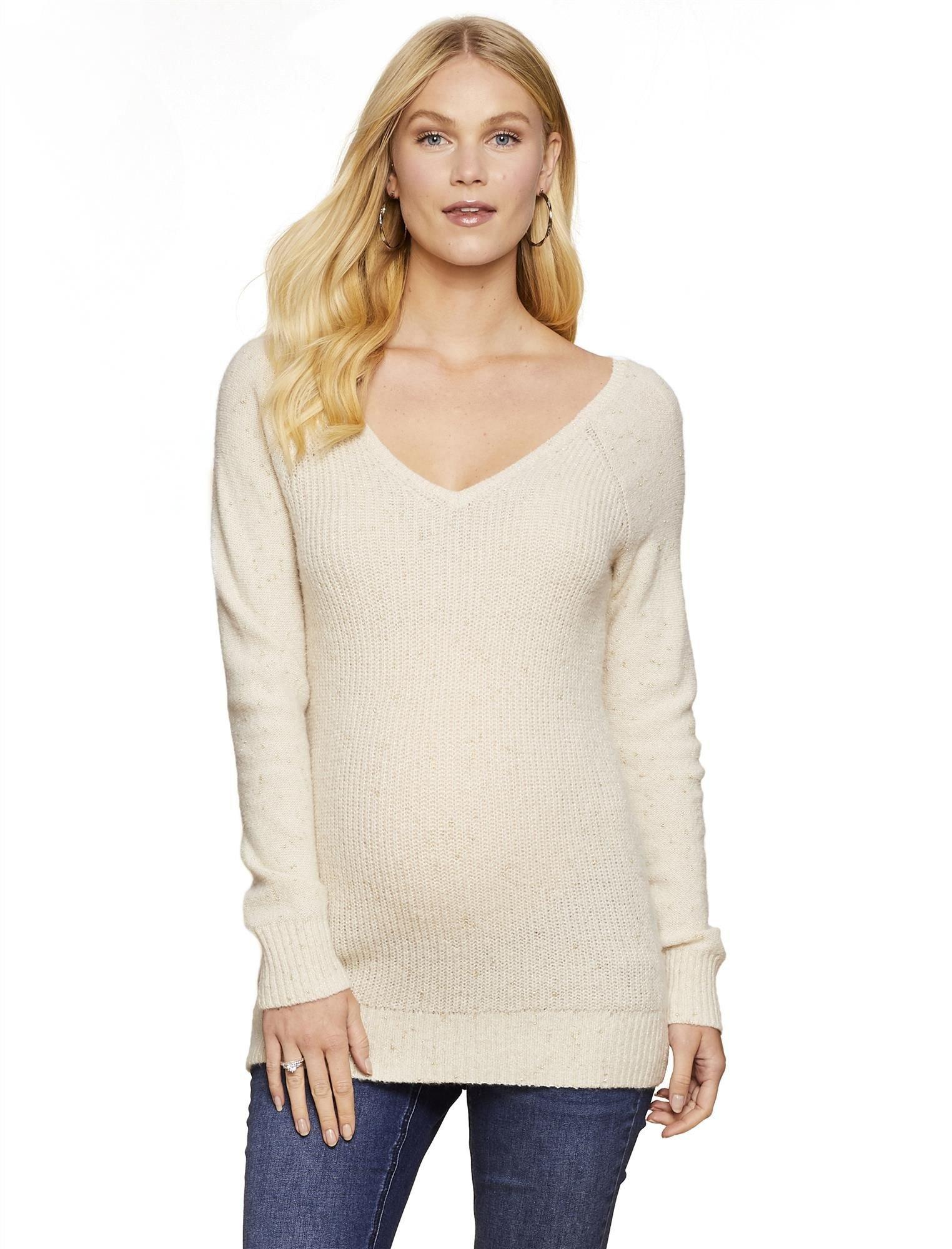 Jessica Simpson Lurex Stitching Maternity Sweater