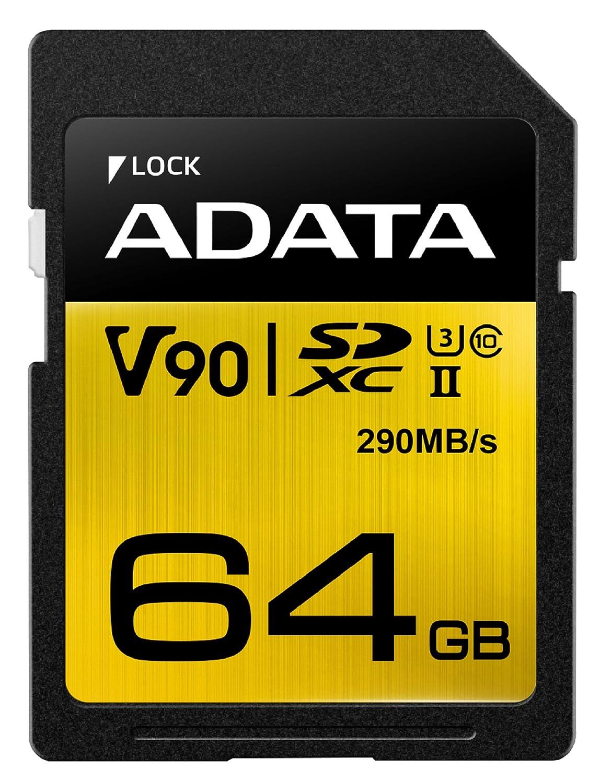ADATA Premier ONE V90 64GB SDXC UHS-II Classe 10 memoria flash 5-6gg Lavorativi (da Ordinare)