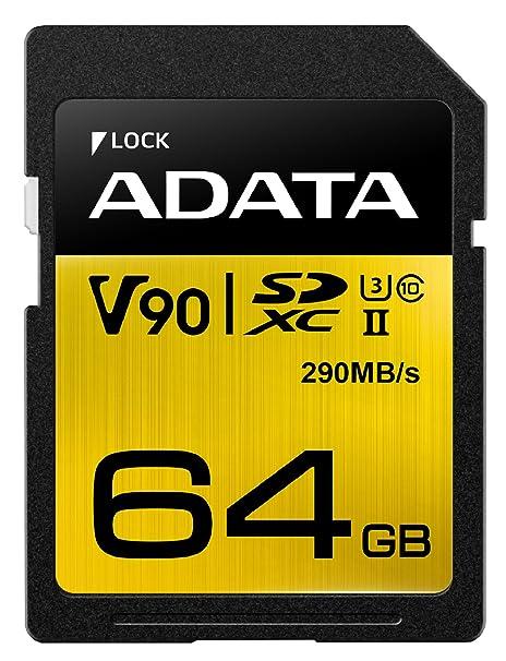 ADATA SD Premier One 64GB UHS 2/U3/CL10 290/260MB/s: Amazon ...