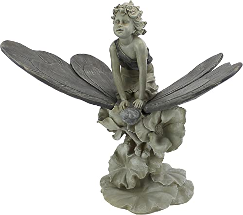 Design Toscano EU41630 A Fairy's Wondrous Butterfly Ride Statue,Multicolored