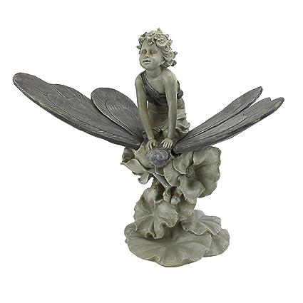 Design Toscano A Fairyu0027s Wondrous Butterfly Ride Statue