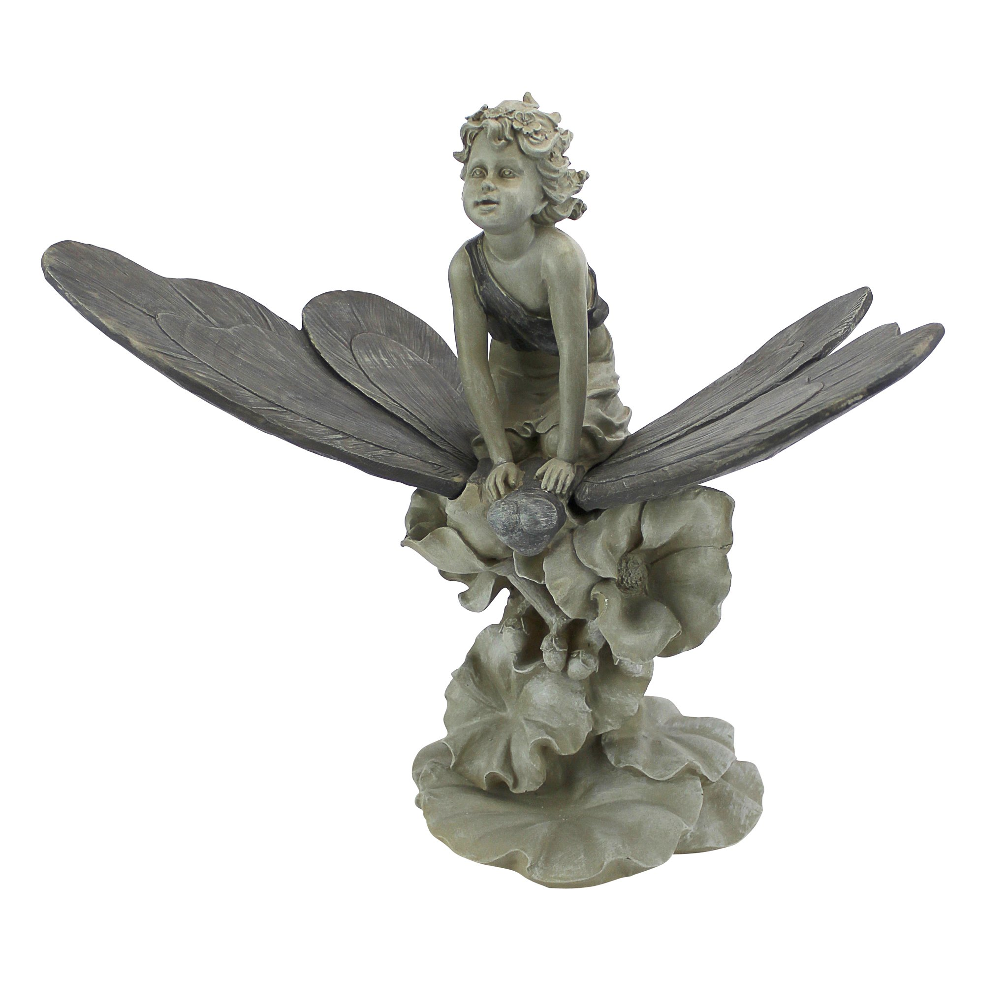Design Toscano A Fairy's Wondrous Butterfly Ride Statue