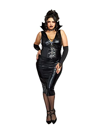 c0452e385f7 Amazon.com  Dreamgirl Women s Plus-Size Edgy Va-Va-Vamp  Clothing