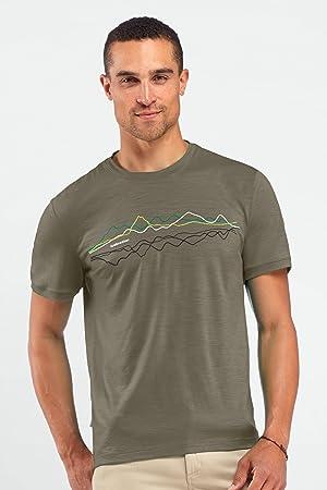 07276531c77 Icebreaker Tech T Lite Men's Short-Sleeved T-Shirt Short Sleeve Green Cargo  Size