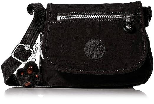 a4ce17bddeb Kipling Women's Sabian Mini Bag, Adjustable Crossbody Strap, Magnetic Snap  Closure, Black Tonal
