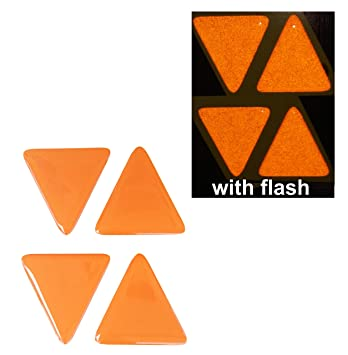 Amazoncom Domed Orange Tri Angle Reflective Decals
