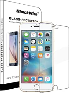 ShockWize ® [1 Pack] [Tempered Glass] .3mm Thin Ballistic Premium Real Glass Screen Protector for iPhone 6 / 6s, Clear
