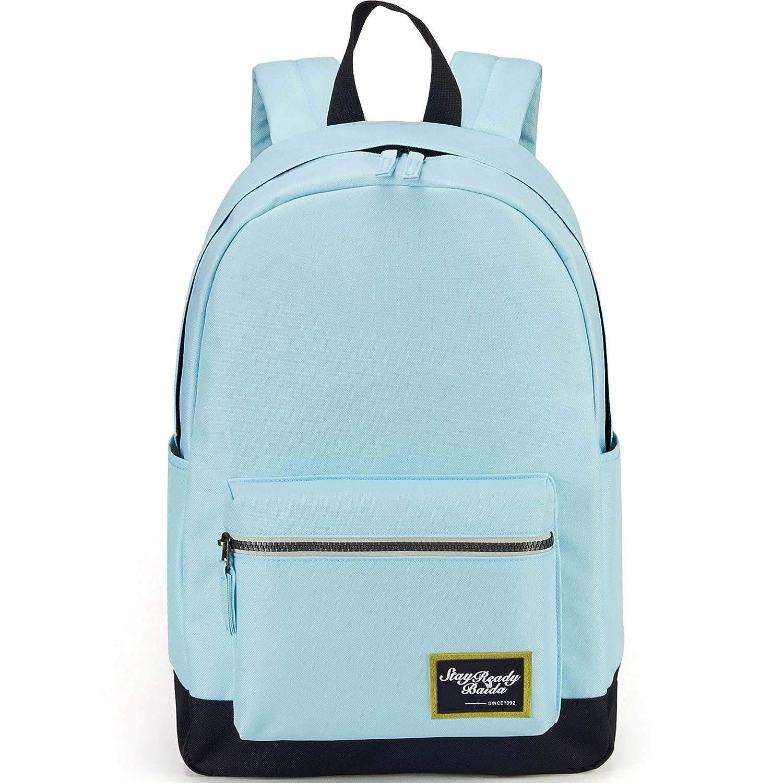 4fdc9875bd BAIDA School Bag,Lightweight Backpack Casual Daypack Laptop Rucksack  Schoolbag for Teen Girls and Boys  Amazon.co.uk  Luggage