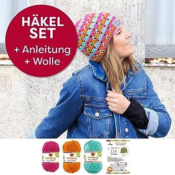 myboshi Mützen Häkel-Set Yanai Sommer-Mütze Häkelmuster und 150g ...