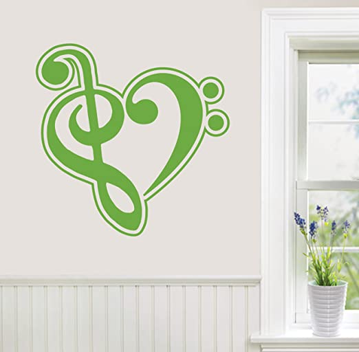 Choose Size /& Color Bass Clef Vinyl Sticker Decal Music
