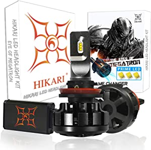 HIKARI Ultra LED Headlight Bulbs Conversion Kit -H11(H8,H9), Prime LED 12000lm 6K Cool White