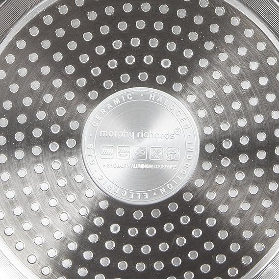 Morphy Richards - Cazo (3 Piezas, Aluminio, Titanio, 20 x 38,5 x 16,5 cm: Amazon.es: Hogar