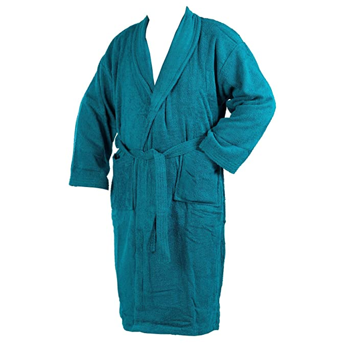 Ladies Mens Luxury 100% Cotton Towelling Bath Robe Dressing Gown Wrap  Nightwear  Amazon.co.uk  Clothing cbc62bc24