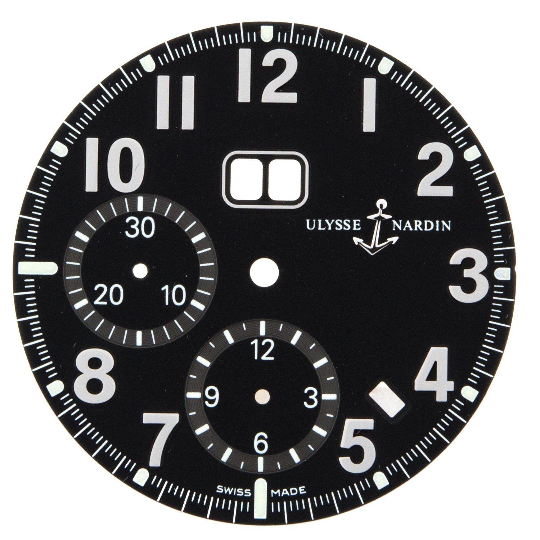 Ulysse Nardin Marine einjÄhrig Chronograph 513–22 32 mm schwarz Zifferblatt fÜr 40 mm Armbanduhr