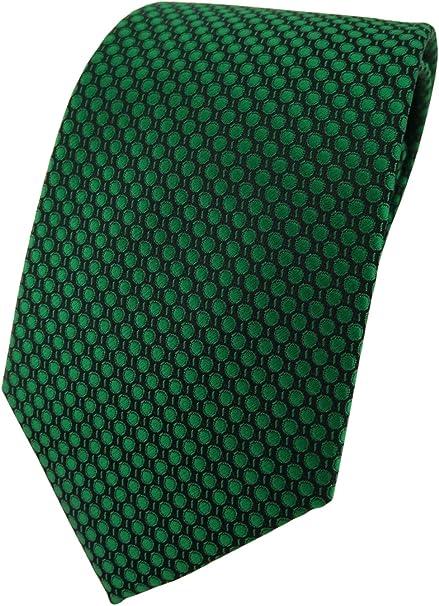 TigerTie - Corbata - verde verde oscuro negro lunares: Amazon.es ...