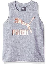 PUMA Girls Girls' Archive Logo Tulip Back Tank Shirt