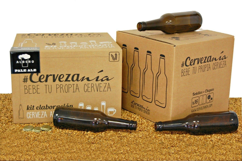 Pack completo para elaborar cerveza en casa   Kit Pale Ale y 16 Botellines con 100