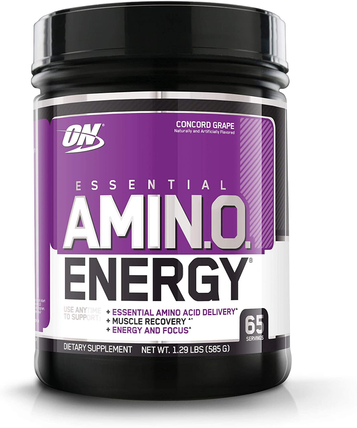 Optimum Nutrition Amino Energy - Pre Workout with Green Tea, BCAA, Amino Acids, Keto Friendly, Green Coffee Extract, Energy Powder - Concord Grape, 65 Servings: Health & Personal Care