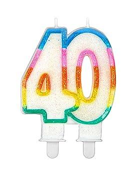 Generique - Vela de cumpleaños 40 años: Amazon.es: Juguetes ...
