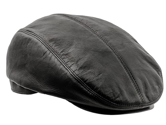 Sterkowski Genuine Leather Gatsby Style Flat Cap at Amazon Men s ... 3301e8a7864a