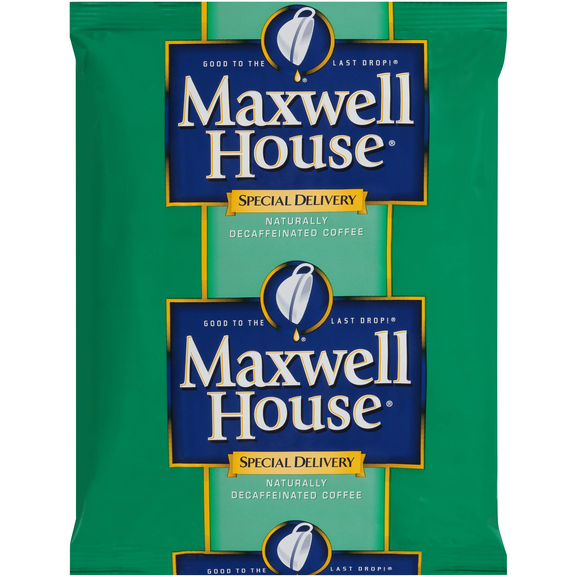 Maxwell House Special Delivery Decaf Ground Coffee Single Serve (1.3 oz Bags, Pack of 42)