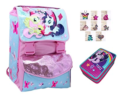 Mochila Escolar Extensible My Little Pony Rosa + Estuche de ...