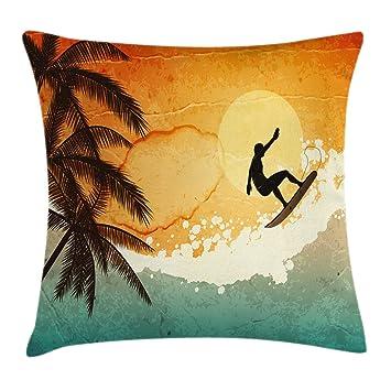 Amazon.com: Verde Throw Pillow Cojín Cubierta por ambesonne ...