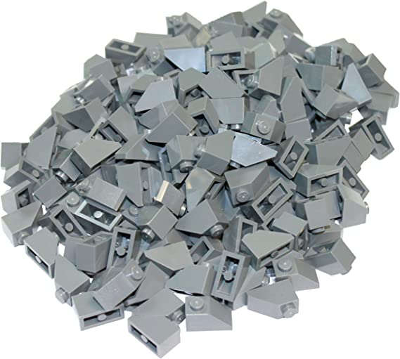 LEGO 50 NEW LIGHT GRAY TILES 1 X 2 WITH STAR WARS COMPUTER PATTERN PIECES
