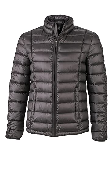 James & Nicholson Men's Down Jacket Quilted - Black - Small