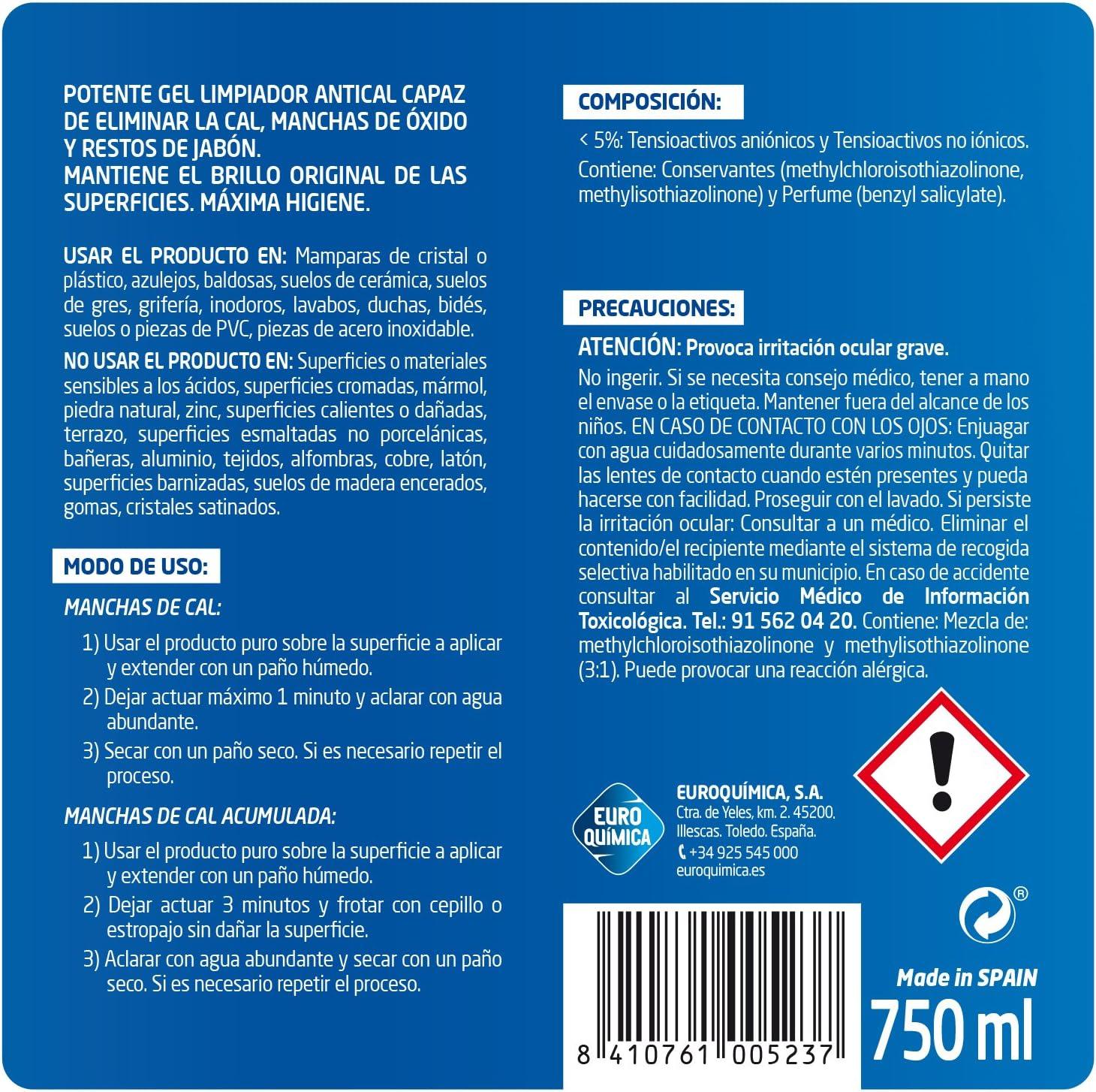Lagarto Limpiador Antical Gel - 858 gr: Amazon.es: Salud y cuidado ...