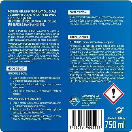 Lagarto Limpiador Antical Gel 750 ml, Pack de 12 x 750 ml: Amazon.es: Salud y cuidado personal