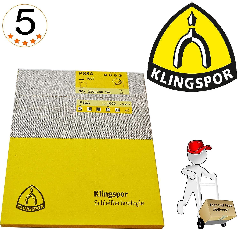 /Parent PS8A-180-50-230x280 230/x 280/Grain 1200//étanche Papier abrasif/ 50 Klingspor ps11/a-1200