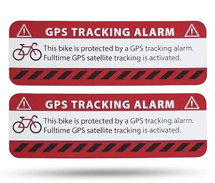 SECYOURITY GPS Alarma Pegatinas Bicicleta – 2 Unidades Netbote24 – Pegatinas de Advertencia – Calidad Premium – 75 mm x 25 mm – Aplicación de Exterior ...