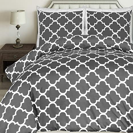 Utopia Bedding Printed Duvet Cover Set Brushed Microfibre Duvet