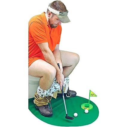 Golf Wc Mat.Amazon Com Fairly Odd Novelties Potty Putter Toilet Time