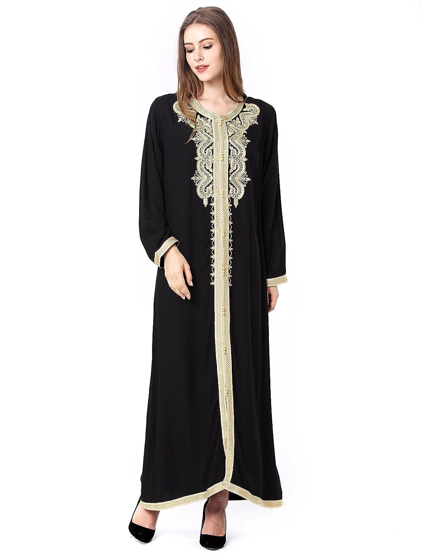 b8941a13a BAYA Musulmán islámica Abaya Jalabiya Kaftan caftán Dubai Maxi Vestido  Largo para Las Mujeres Ropa Vestido de rayón 1629  Amazon.es  Ropa y  accesorios