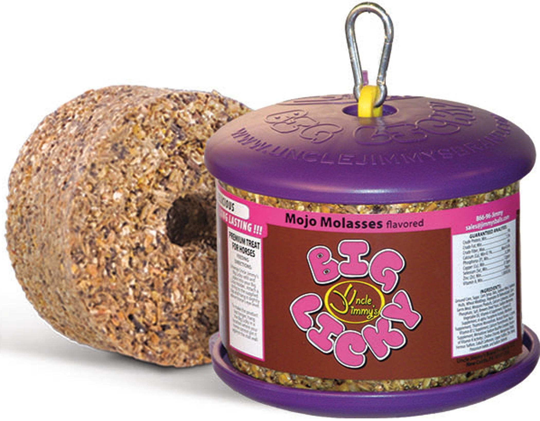 UNCLE JIMMYS BRAND PR LLC Big Licky Treats for Horses with Holder 3.75 LB