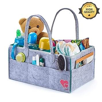 Amazon.com: Organizador de pañales para bebé, organizador de ...