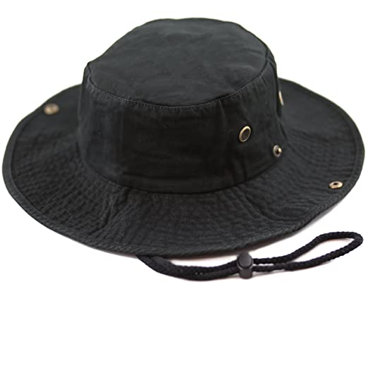 THE HAT DEPOT 300N1510 Wide Brim Foldable Double-Sided Outdoor Boonie  Bucket Hat (S 1d5cff73cb0