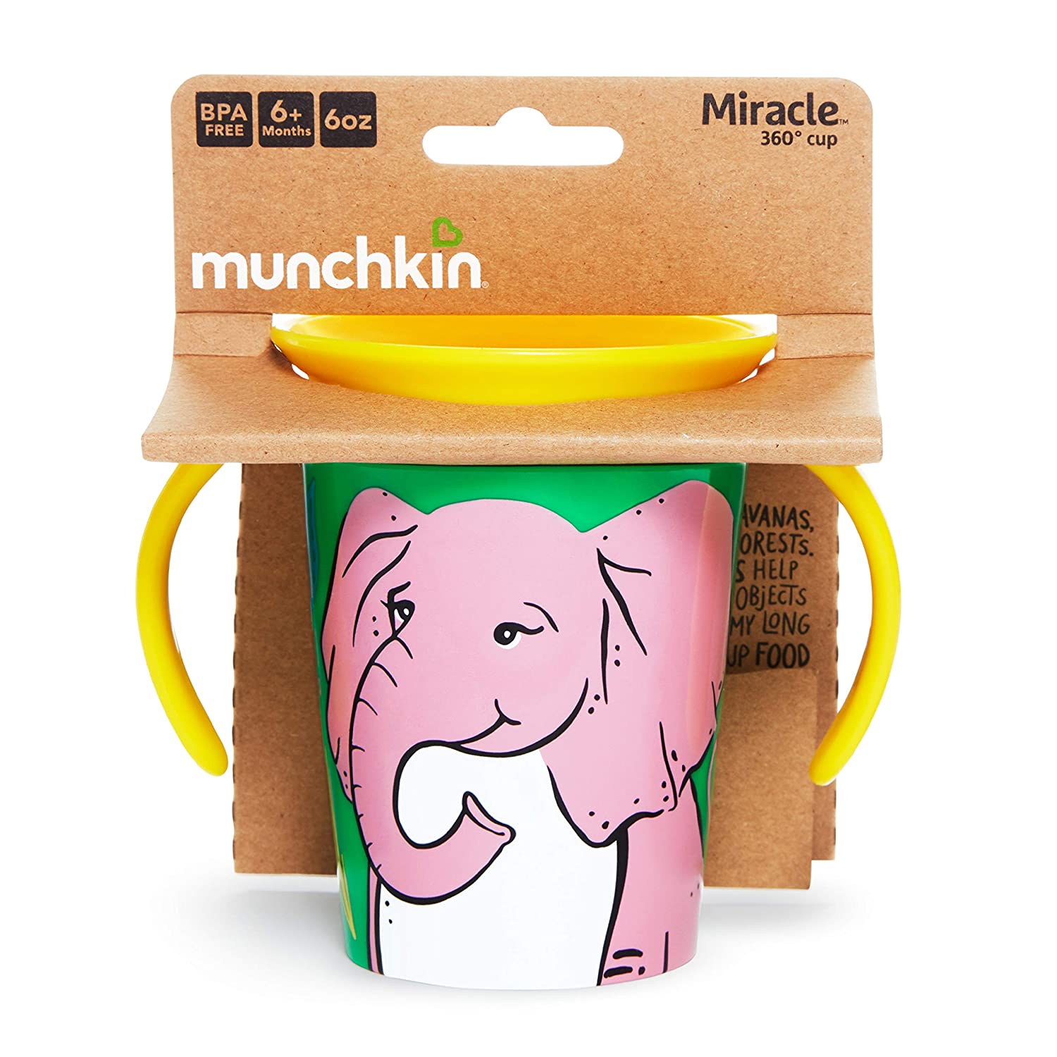 Elephant 6 Oz Munchkin Miracle 360 Wildlove Trainer Cup
